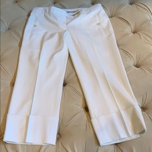 Limited white lined capris